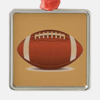 Football Image On Items Metal Ornament by CREATIVESPORTS at Zazzle