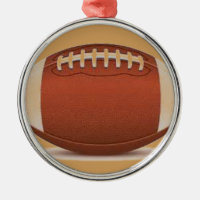FOOTBALL IMAGE ON ITEMS METAL ORNAMENT