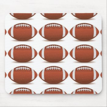 Football Image On Items Mouse Pad by CREATIVESPORTS at Zazzle