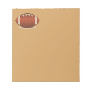 Football Image On Items Notepad by CREATIVESPORTS at Zazzle