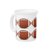 FOOTBALL IMAGE ON ITEMS PITCHER