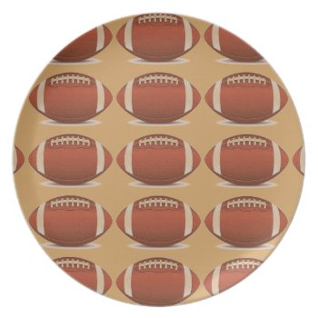 Football Image On Items Plate by CREATIVESPORTS at Zazzle
