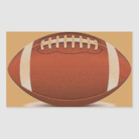 FOOTBALL IMAGE ON ITEMS RECTANGULAR STICKER