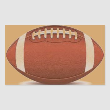 Football Image On Items Rectangular Sticker by CREATIVESPORTS at Zazzle