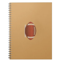FOOTBALL IMAGE ON ITEMS SPIRAL NOTEBOOK