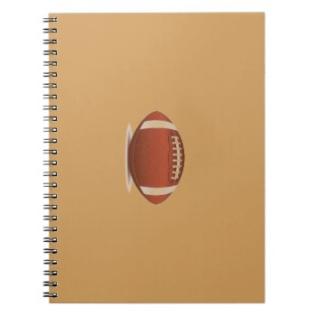 Football Image On Items Spiral Notebook by CREATIVESPORTS at Zazzle
