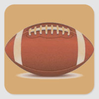 FOOTBALL IMAGE ON ITEMS SQUARE STICKER