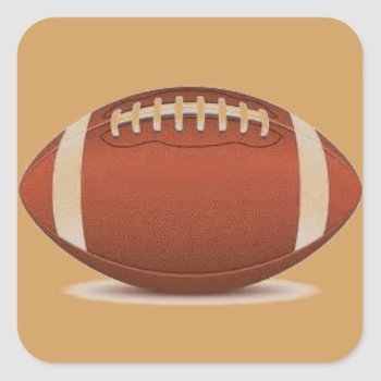 Football Image On Items Square Sticker by CREATIVESPORTS at Zazzle