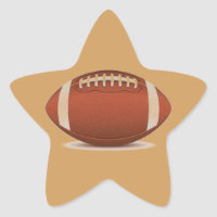 FOOTBALL IMAGE ON ITEMS STAR STICKER