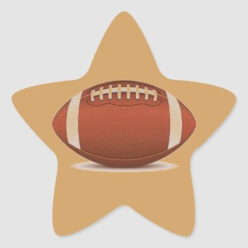 Football Image On Items Star Sticker by CREATIVESPORTS at Zazzle