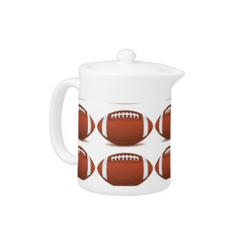 Football Image On Items Teapot by CREATIVESPORTS at Zazzle