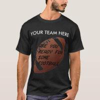 FOOTBALL IMAGE ON ITEMS TEE SHIRT
