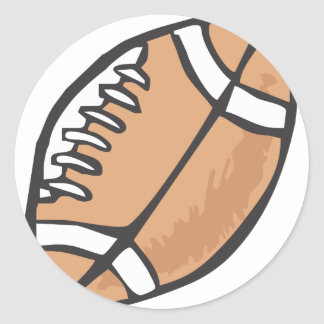 Football in Hand drawn Style Classic Round Sticker