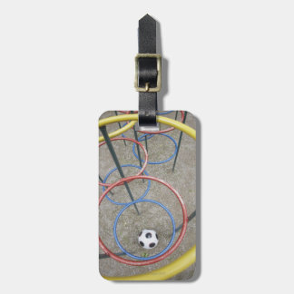 Football in Playground Luggage Tag