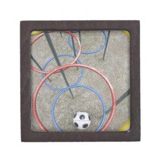Football in Playground Premium Keepsake Boxes