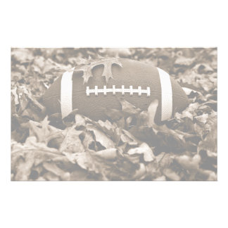 Football in Sepia Stationery