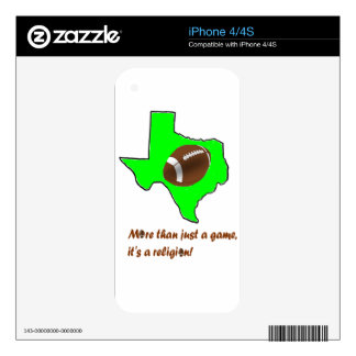 Football in Texas is Religion Decal For The iPhone 4S