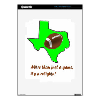 Football in Texas is Religion Decals For iPad 2