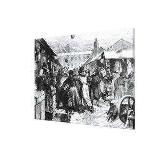 Football in the Jews' Market, St. Petersburg Canvas Print