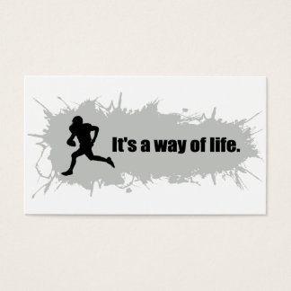 Football Is a Way of Life Business Card