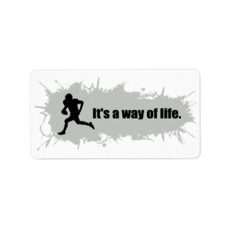 Football Is a Way of Life Label