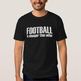 football is cheaper than wifes t-shirt