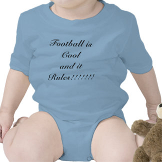 Football is Cool and it Rules Baby Bodysuit