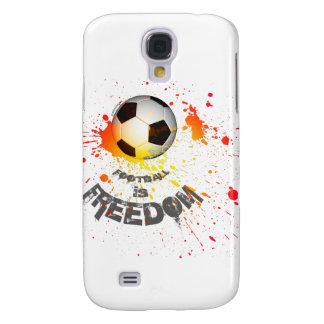 Football is F case Galaxy S4 (ball splash orange)