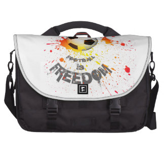 Football is Freedom messenger bag(splashball orng) Laptop Computer Bag