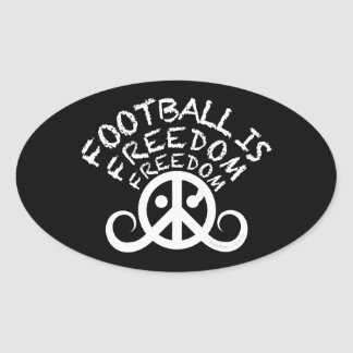 "Football is Freedom sticker (oval 4.5x2.7"" black)"