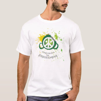 Football is Freedom T-shirt (splash green art)