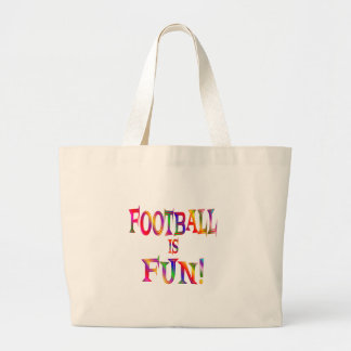 Football is Fun Canvas Bags