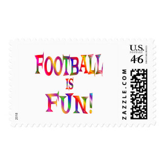 Football is Fun Stamp