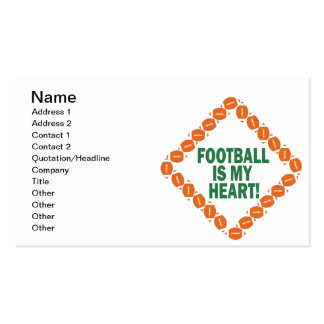 Football Is My Heart Double-Sided Standard Business Cards (Pack Of 100)