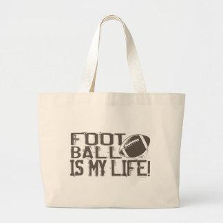 Football is My Life Jumbo Tote Bag