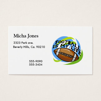 Football Is My Life Business Card