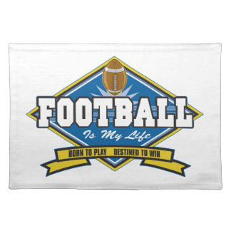 Football Is My Life Cloth Placemat
