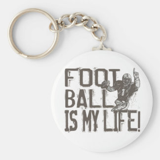 Football is My Life Key Chains