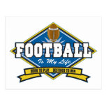 Football Is My Life Post Card