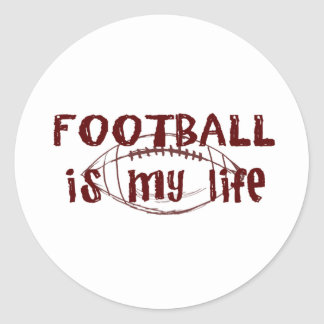 Football Is My Life Classic Round Sticker
