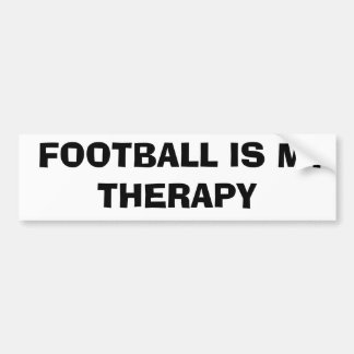 Football is My Therapy Car Bumper Sticker