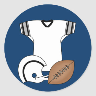 Football Jersey and Helmet Tshirts and Gifts Round Sticker