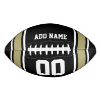 Football Jersey Black|Gold Personalized