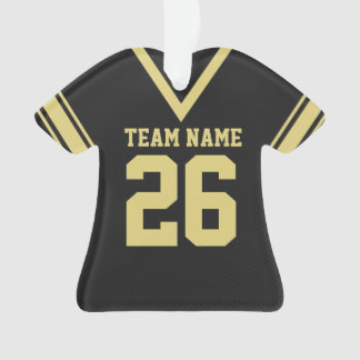 Football Jersey Black Gold Uniform Ornament