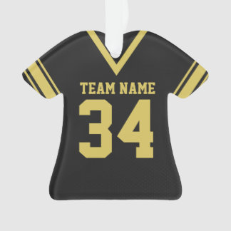 Football Jersey Black Uniform Ornament
