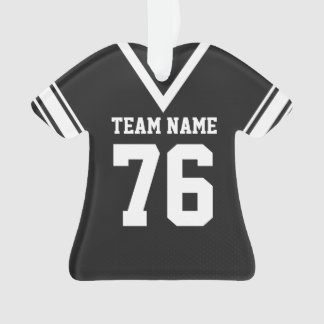 Football Jersey Black Uniform with Photo