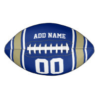Football Jersey Blue|Gold Personalized