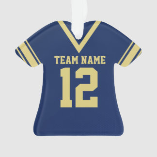 Football Jersey Blue Gold Uniform Ornament