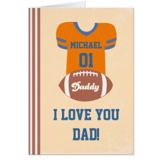 Football Jersey Card, Father's Day Birthday Card