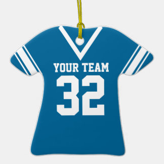 Football Jersey Customizable Color Double-Sided T-Shirt Ceramic Christmas Ornament